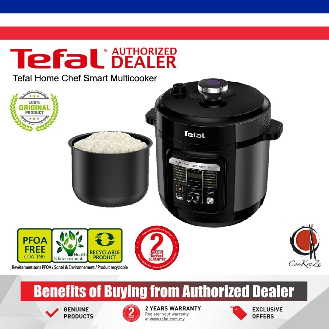 READY STOCK Tefal Home Chef Smart Multicooker Electrical Pressure Cooker Rice Soup CY601D PREMIUM QUALITY