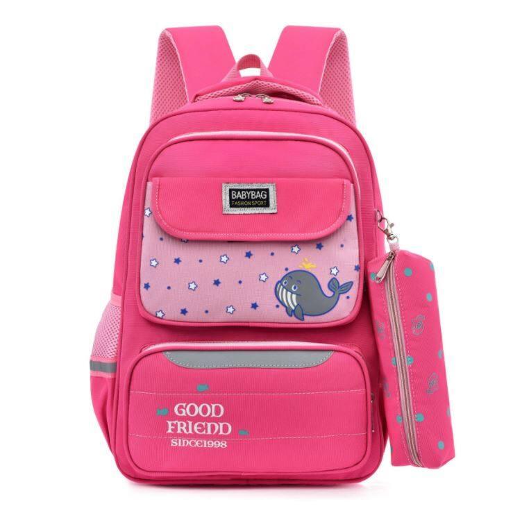 BAGGIE Cute Whale Primary Kids School Bag Beg Sekolah Kanak Backpack Large Capacity