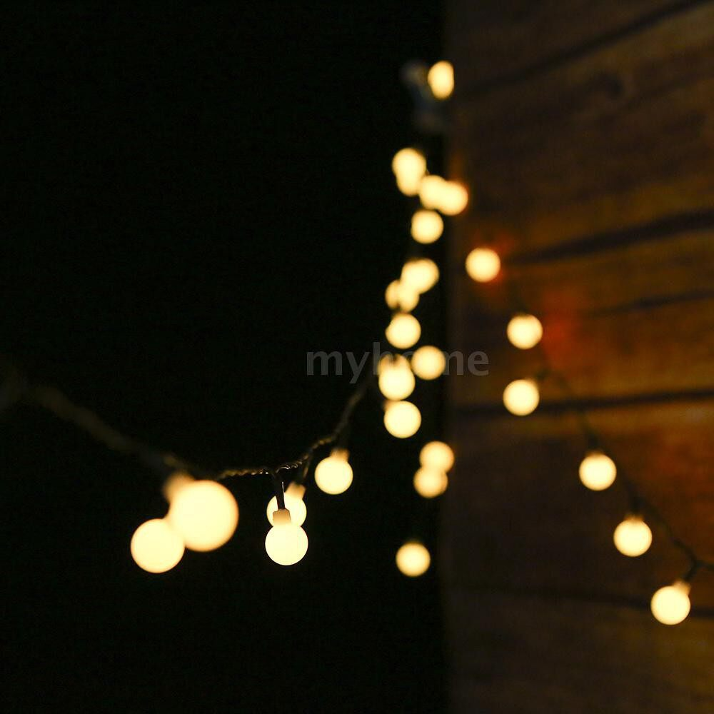 Lighting - Solar Powered 50 LEDs String Light IP44 Water-resistant Outdoor Hanging Fairy Lights House - RGB / WARM WHITE