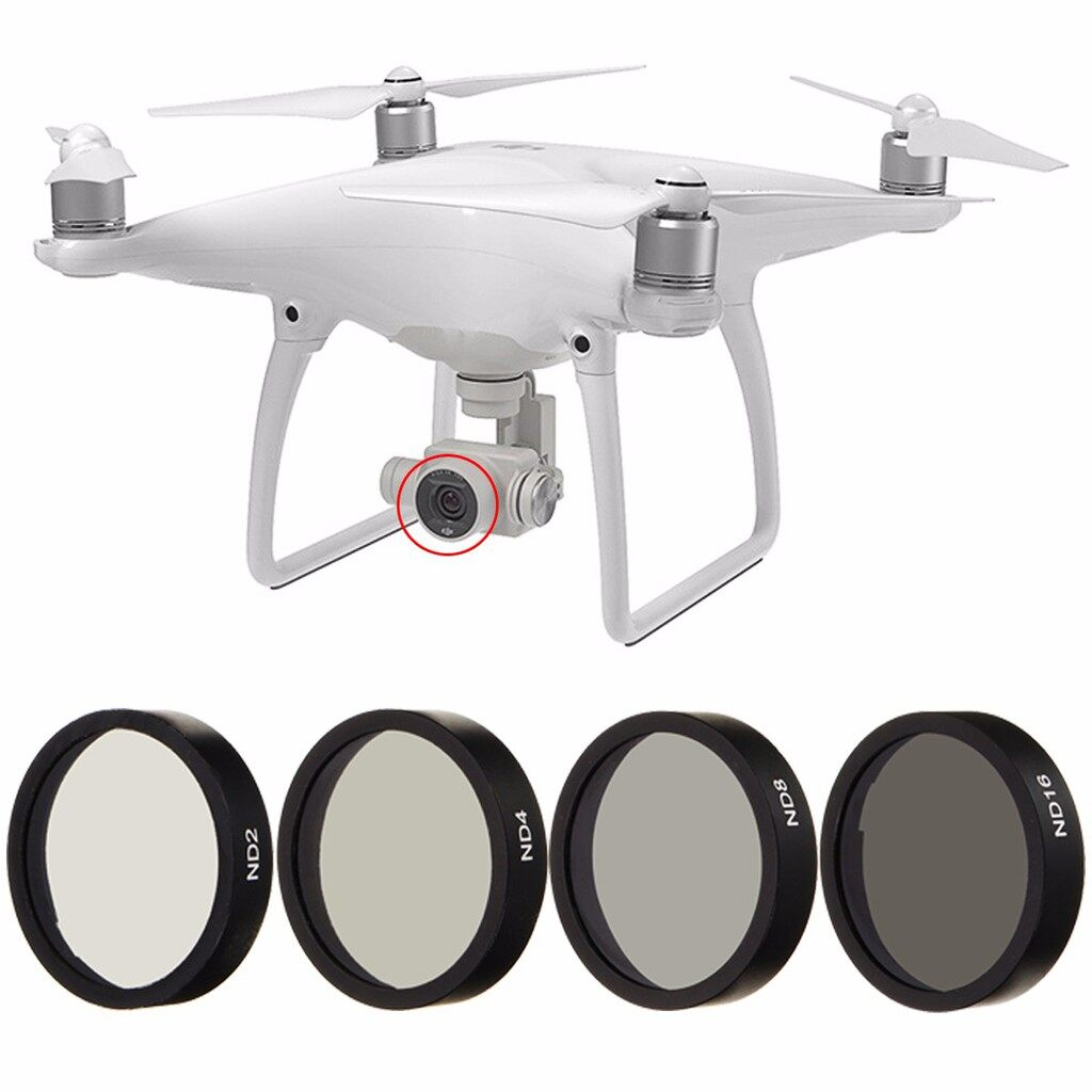 Lens Filters - ND2+ND4+ND8+ND16 Lens Filter For DJI Phantom 3 4 Professional Advanced Camera - Camera Accessories