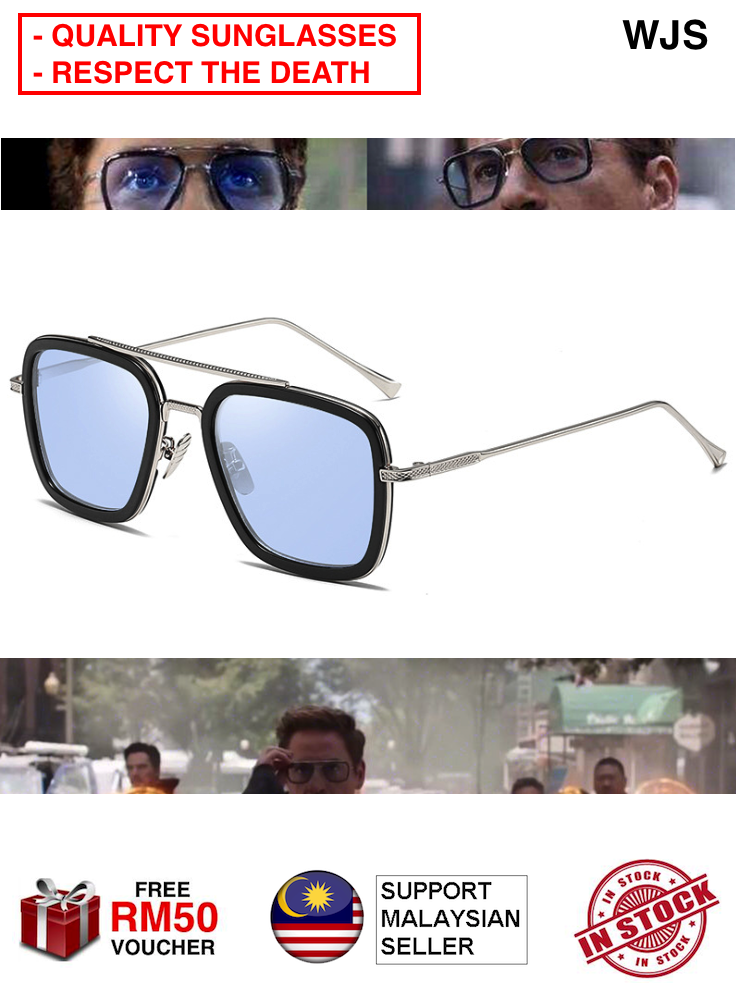 (HELLO MR.STARK) WJS Sun Glasses Iron Man Sunglass Matsuda T0ny Stark Sunglasses Stark Enhanced Glasses Men Rossi Coating Retro Vintage Designer BLACK GREY RED BLUE [FREE RM 50 VOUCHER]