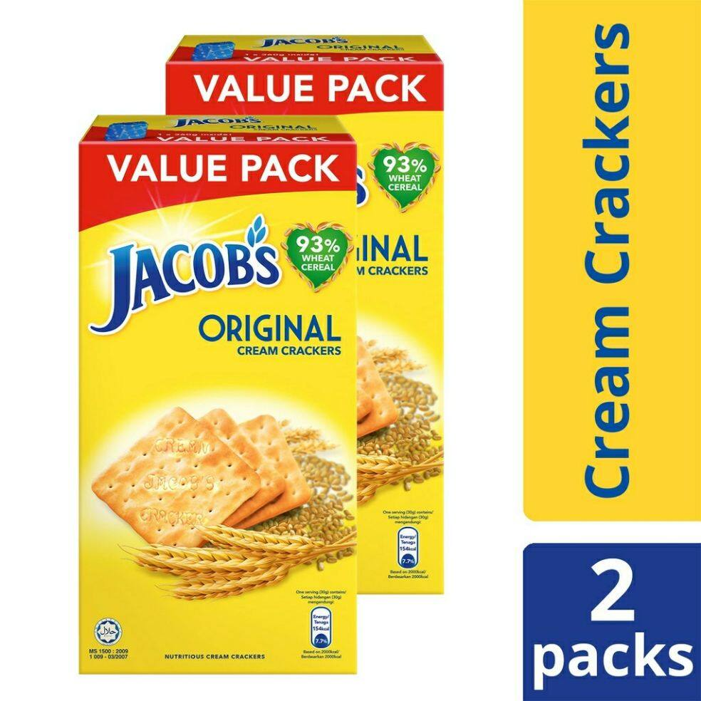 Jacob's Original Cream Crackers (360g x 2)
