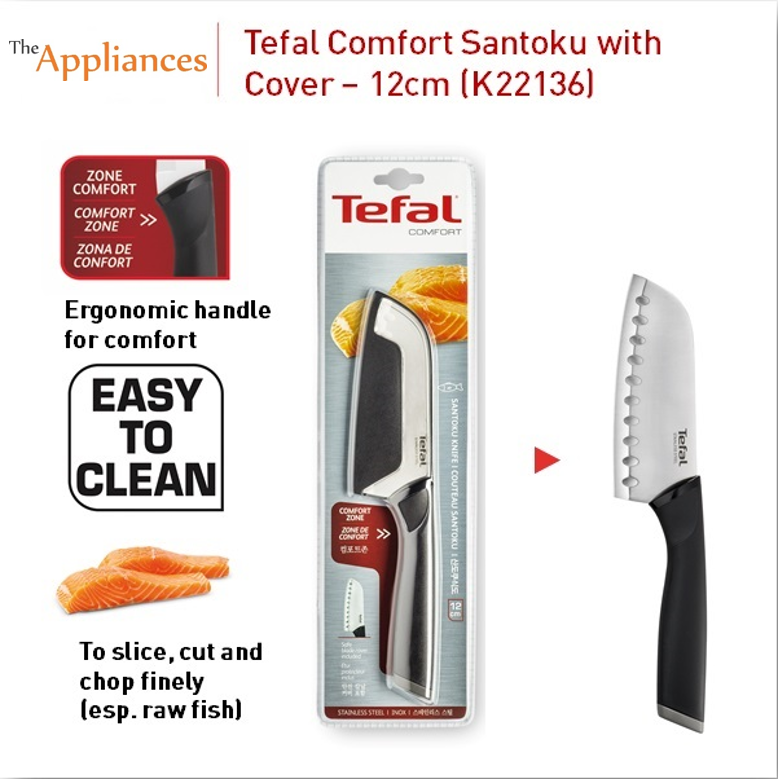 Tefal Comfort Santoku Knife With Cover (12cm)