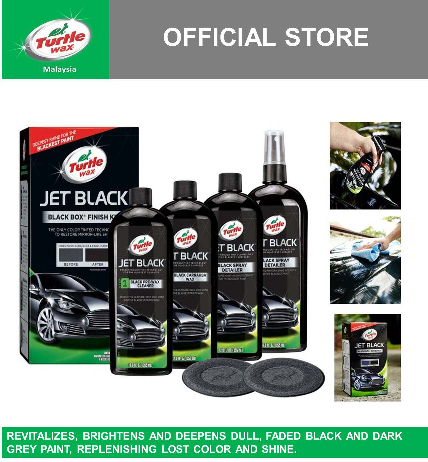 Turtle Wax Jet Black Box Finish Kit T-3KT