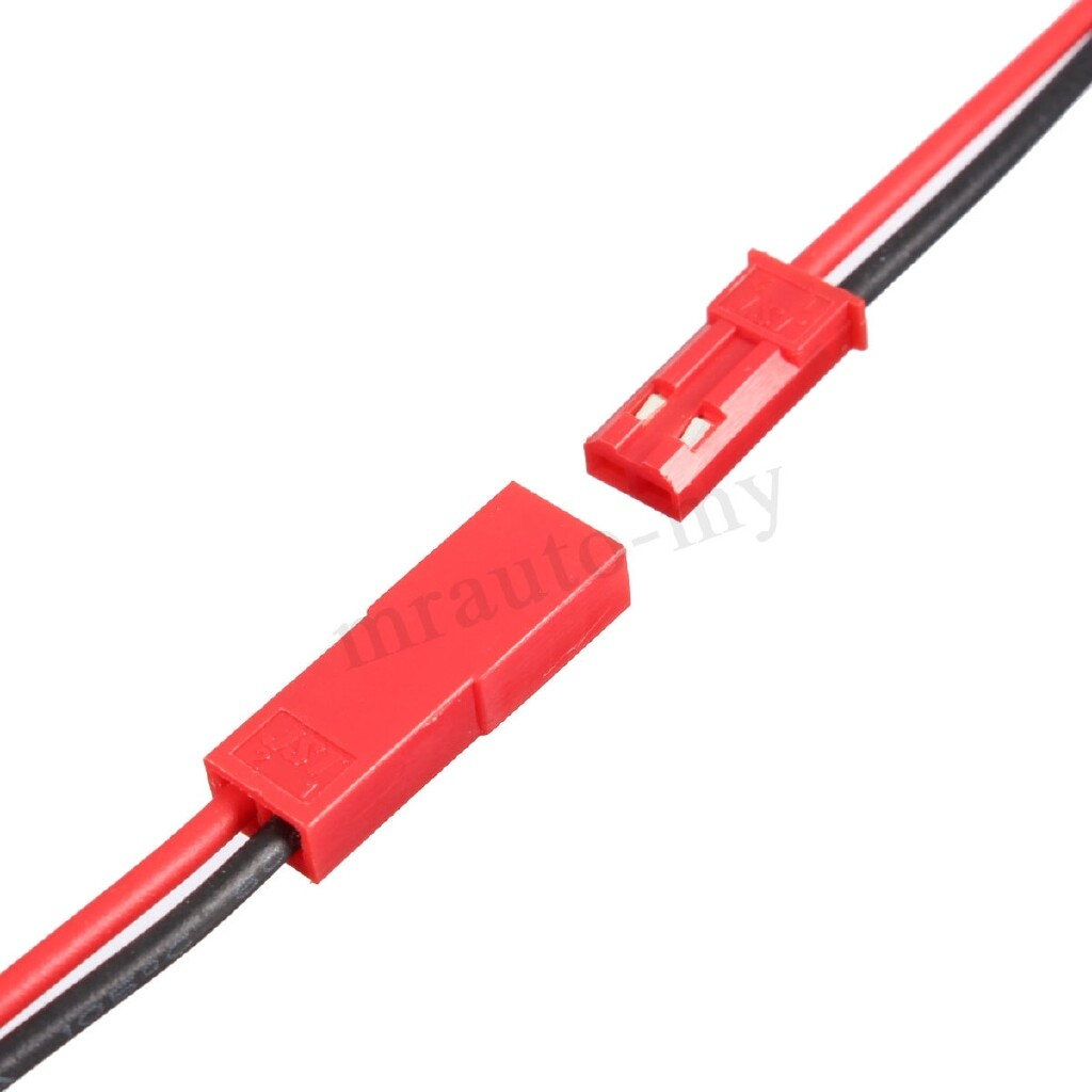 Engine Parts - Red 110mm 10 Pairs Micro 2 Pins JST Connector Plug Cable Wire Line Female Male - Car Replacement