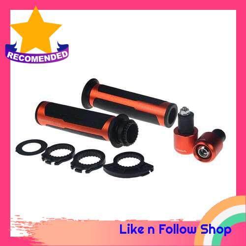 Racing Aluminum Motorcycle Handle Bar Handlebar Grips (Orange)