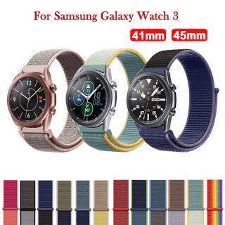Dây Đeo Đồng Hồ Nylon 50 Màu Cho Samsung Galaxy Watch 3 41Mm 45Mm Vòng Đeo Tay Thể Thao Thoáng Khí Cho Samsung Galaxy Watch 3 Dây Đeo Cổ Tay thumbnail