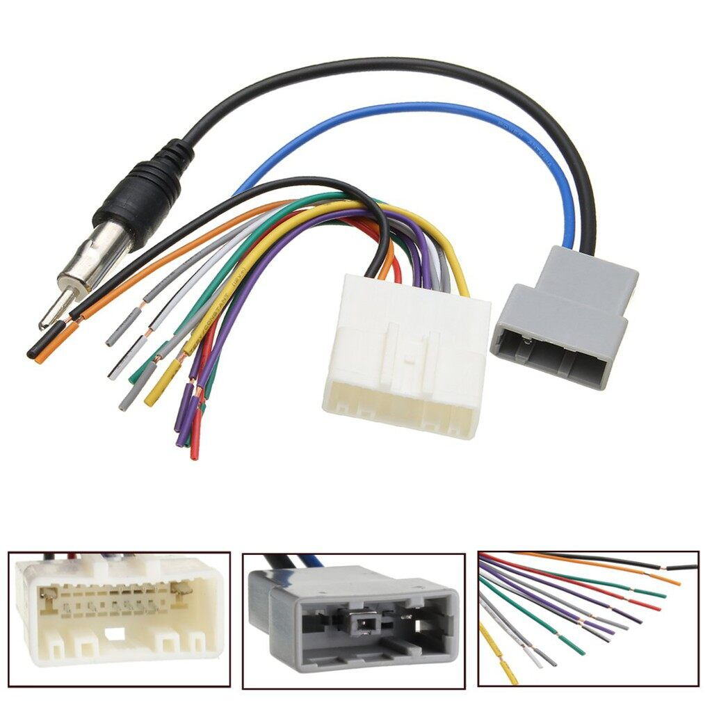 Car Radios - Car DVD Radio Player Stereo Wire Harness Cable Plugs Antenna Adapter For Nissan - Electronics
