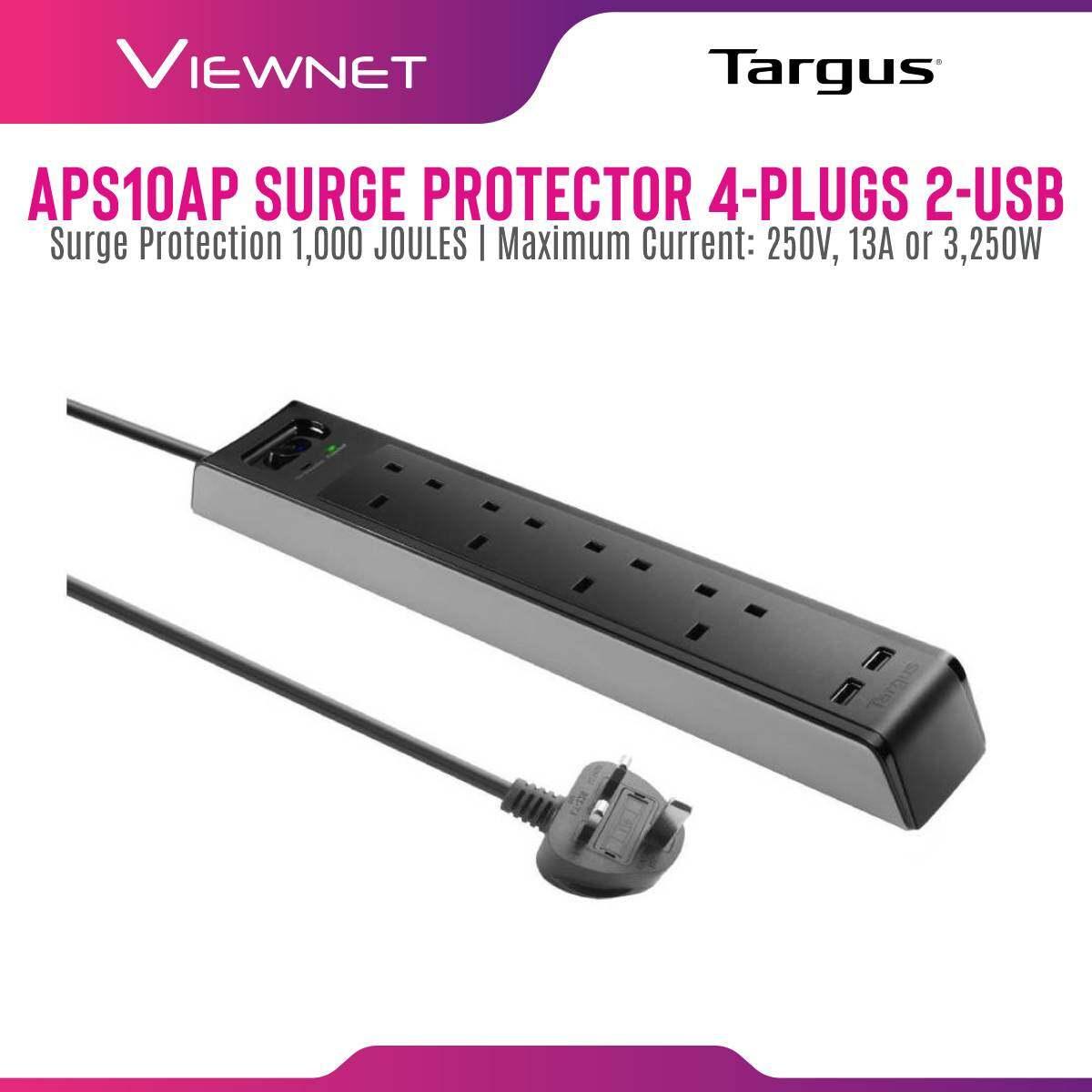 TARGUS SURGE PROTECTOR 4-PLUGS WITH 2-USB 2M (APS10AP-50)