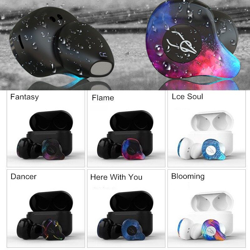 On-Ear Headphones - Sabbat X12 Pro BLUETOOTH Earphone Dual Mic Headphones with Charging Box - DANCER / BLOOMING / ICE SOUL / FLAME / HERE WITH YOU