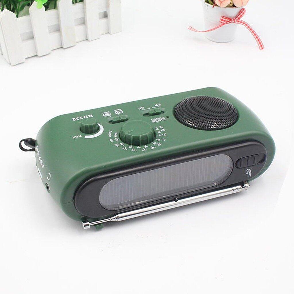 Car Radios - Dynamo Generator FM/AM Solar Crank Powered Radio With Flashlight Phone Charger - Electronics