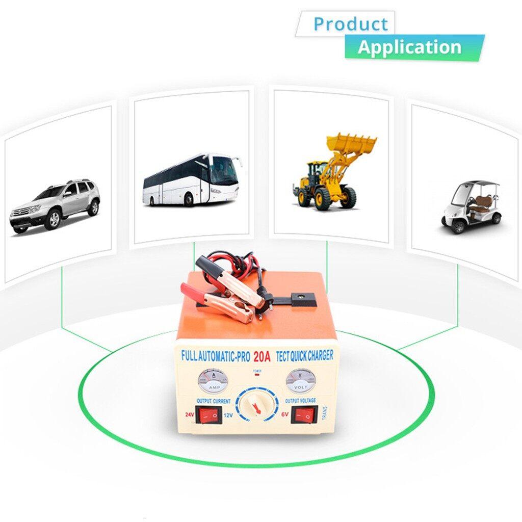 Floor Mats - TK-20A 12V/24V 100AH Full Automatic-Pro Car Battery Quick Charger / 220V - Car Accessories