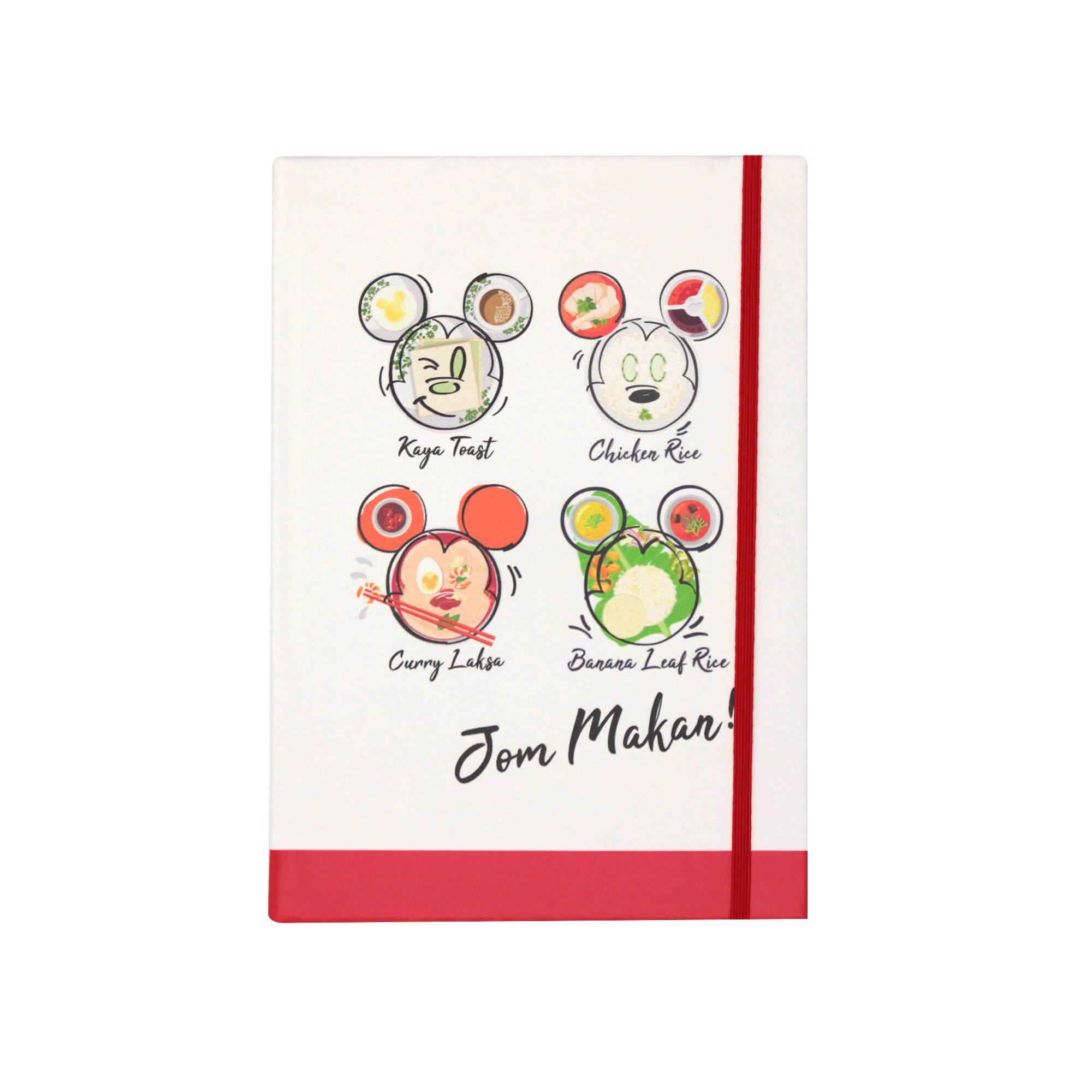 Disney Mickey Go Local 100 Sheets A5 Hard Cover Notebook - Jom Makan!