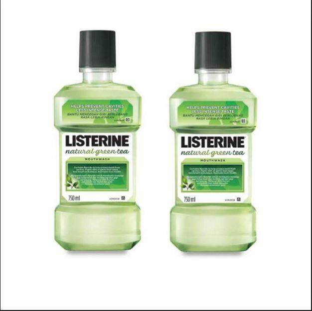 Listerine Green Tea 750ML x2