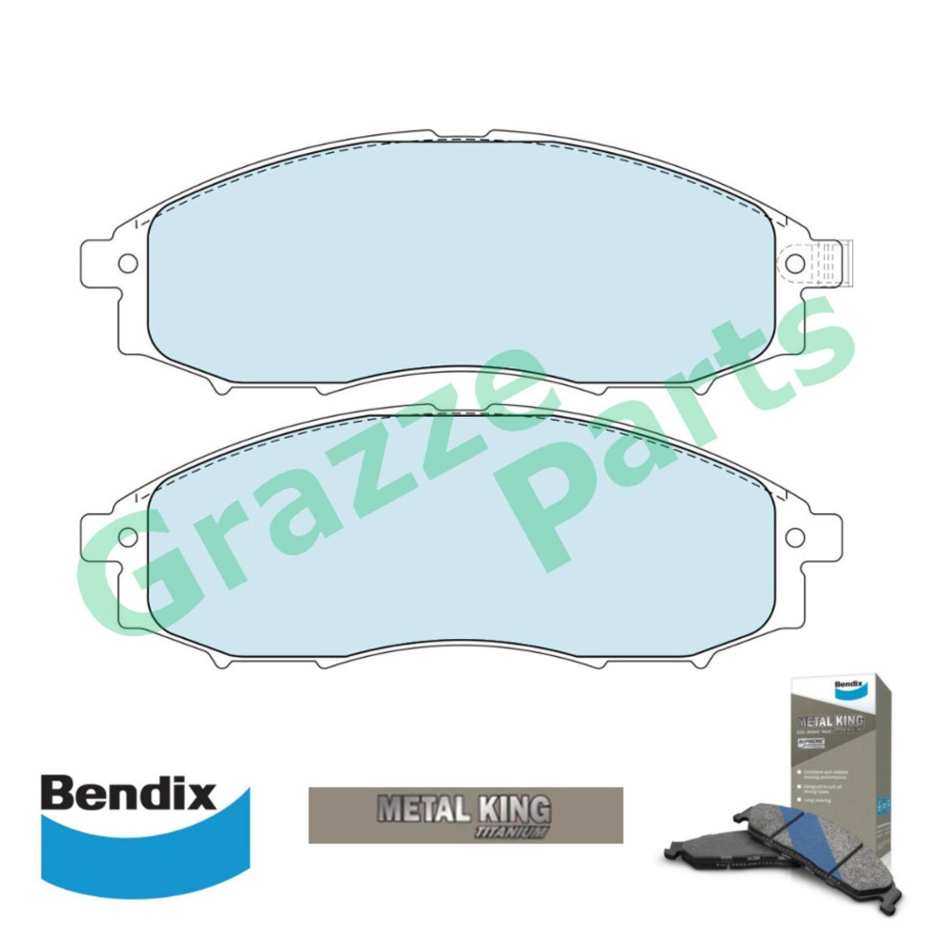 Bendix Metal King Titanium Disc Brake Pad Front for DB1439 - Nissan Frontier D22