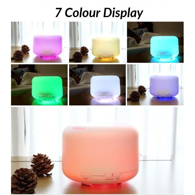 [Ready stock]500ml Air Humidifier Diffuser Aroma Aromatherapy for Essential Oil with colours