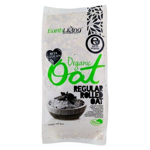 Earth Organic Regular Rolled Oat 500g