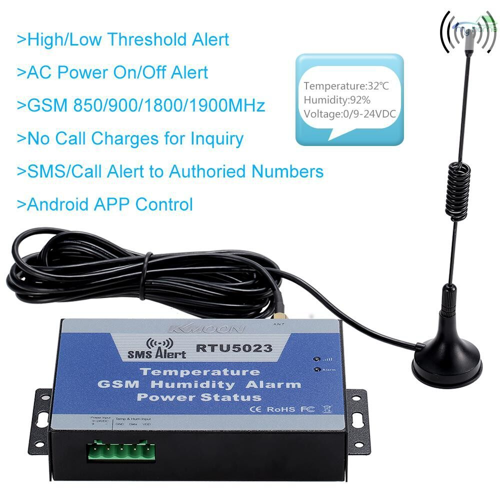 Sensors & Alarms - GSM SMS Alarm System Temperature Humidity Power Status Monitoring Support Android APP - #