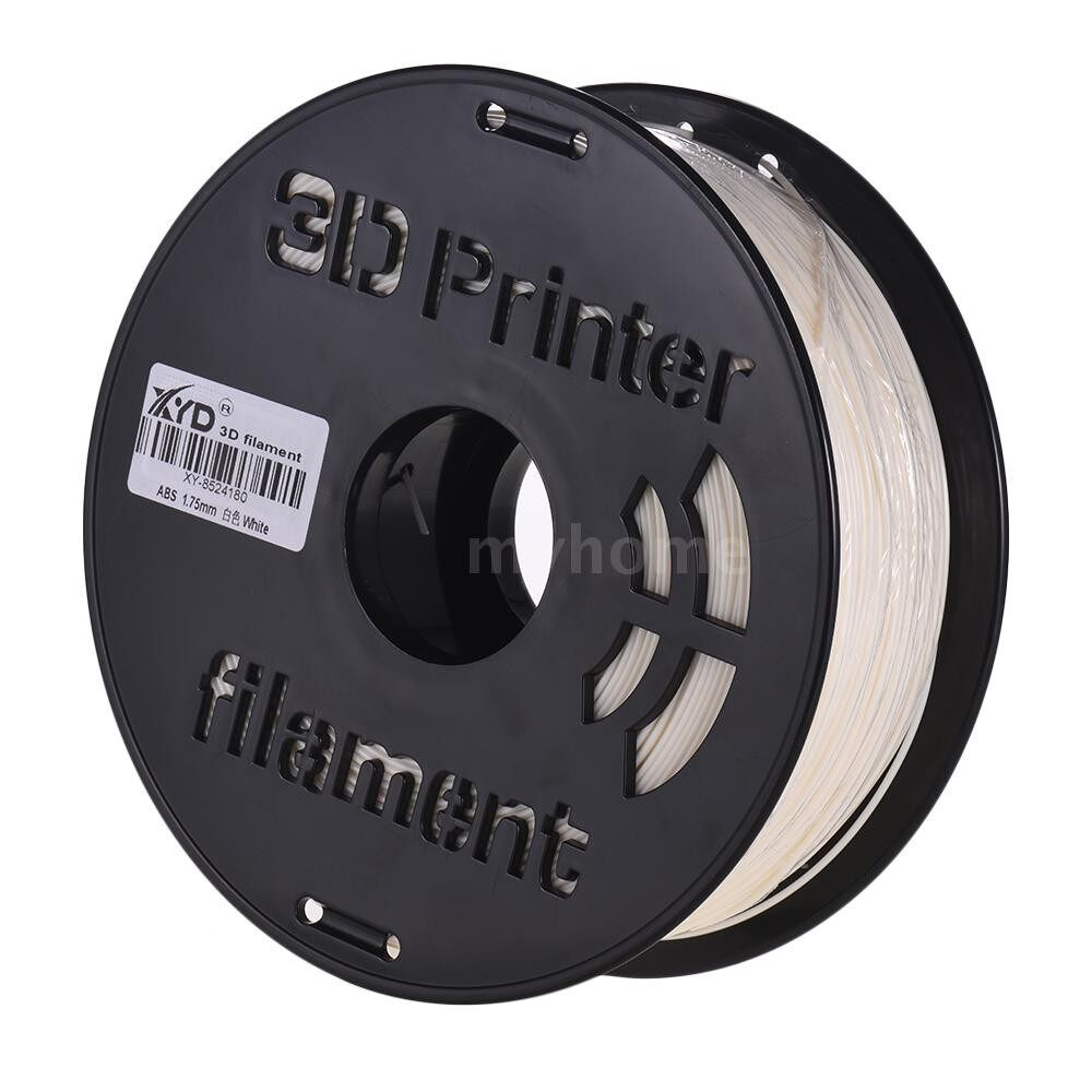 Printers & Projectors - 1KG/ Spool Colorful ABS Filament 1.75mm Diameter Printing Material Filament for 3D Printers - PALE YELLOW / SILVER / BLACK / TRANSPARENT / BLUE / PINK / RED / YELLOW / GREEN / WHITE / NATURAL
