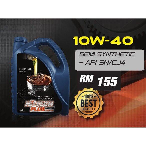 Hi-Tech Plus Lubricant Engine Oil Semi-Synthetic 10W-40 4Liter