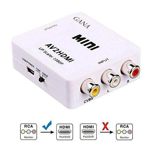 Mini AV Audio Video 3RCA CVBS Composite to 1080P HDMI Converter Adapter for HDTV