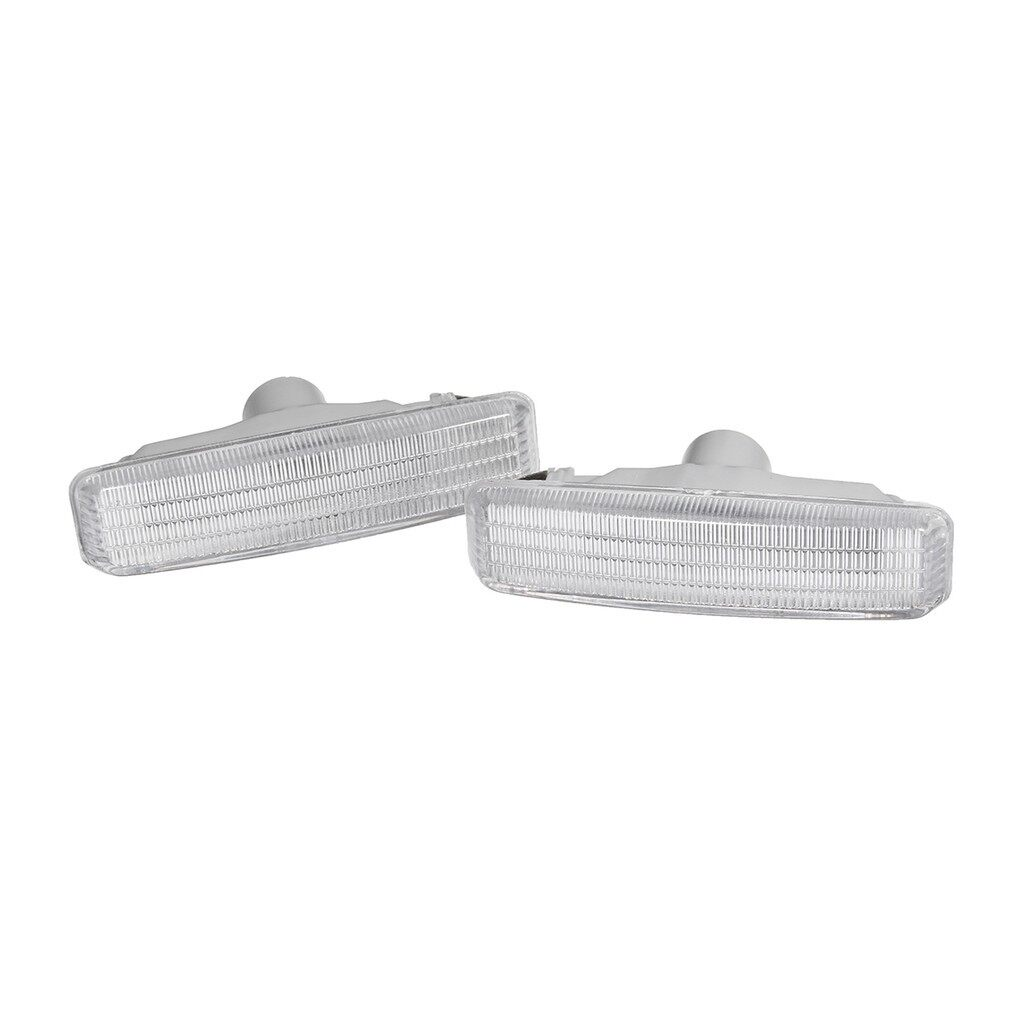 Car Lights - Pair Clear Fender Side Marker Light Indicator Turn For BMW 5-Series E39 97-03 - Replacement Parts
