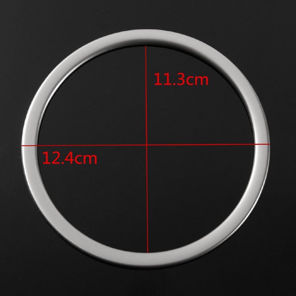 Car Stickers - Car Chrome Steering Wheel Panel Cover Badge Frame Trim For KIA OPTI2016 2017 - Accessories