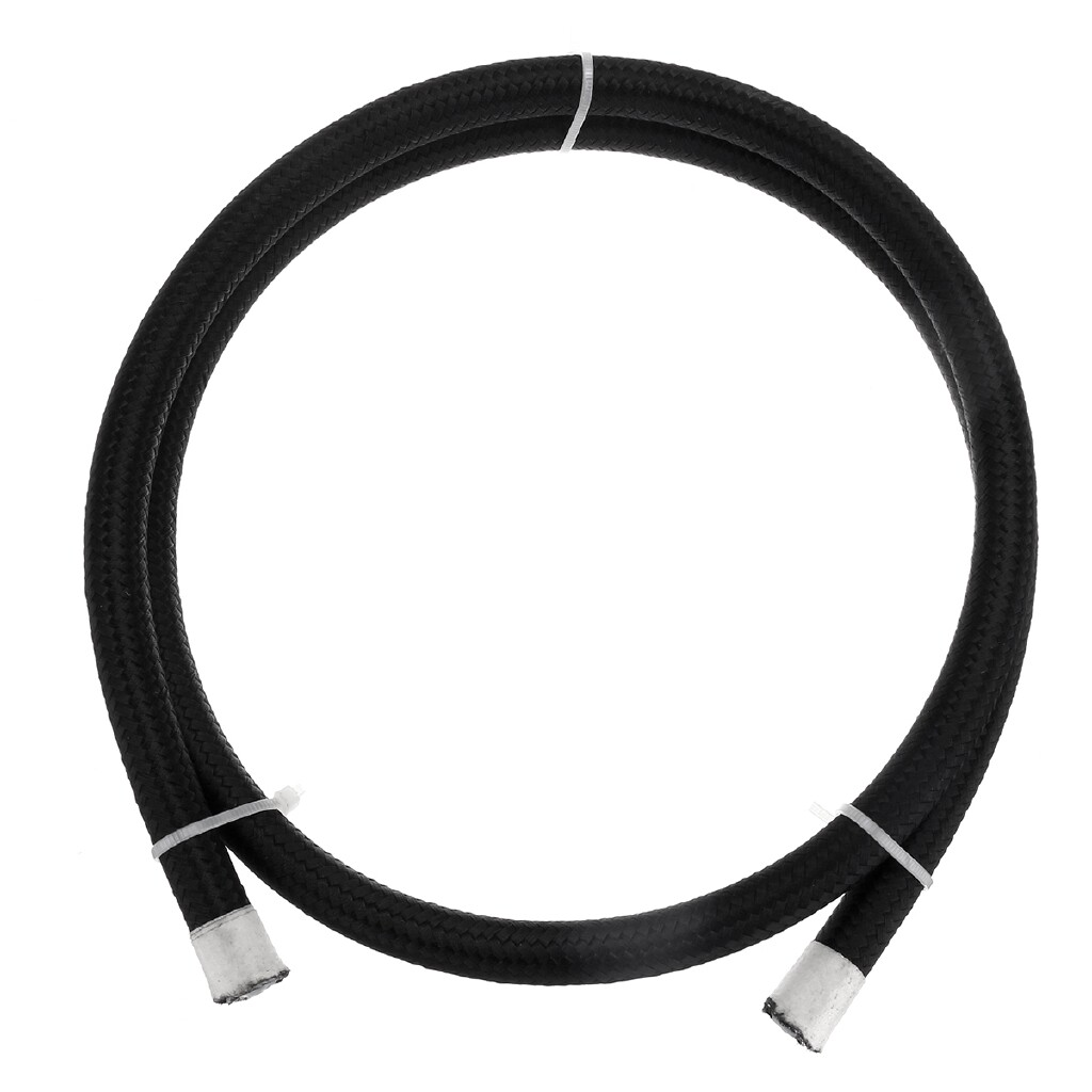 Exhaust - 1M/3.3ft Nylon Braided Pipe Teflon Gas Oil Fuel Coolant Hose 6-AN AN6 8mm 5/16'' - Car Replacement Parts