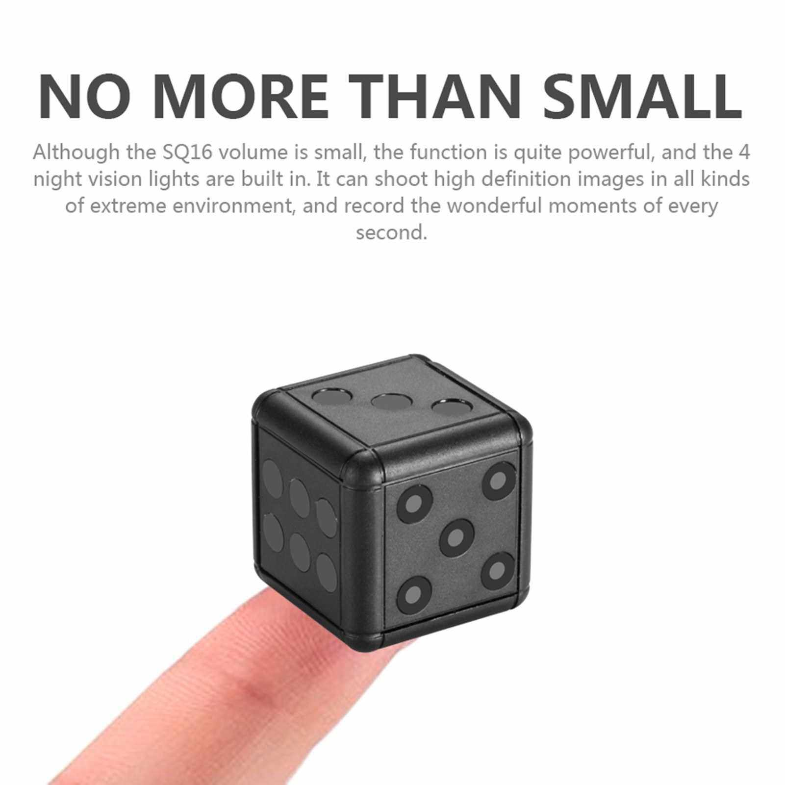 Mini Camera Full HD 1080P Camera Portable Small Home Cam DV Camera with Night Vision and Motion recorder for Indoor and Outdoor, Sports (Black)