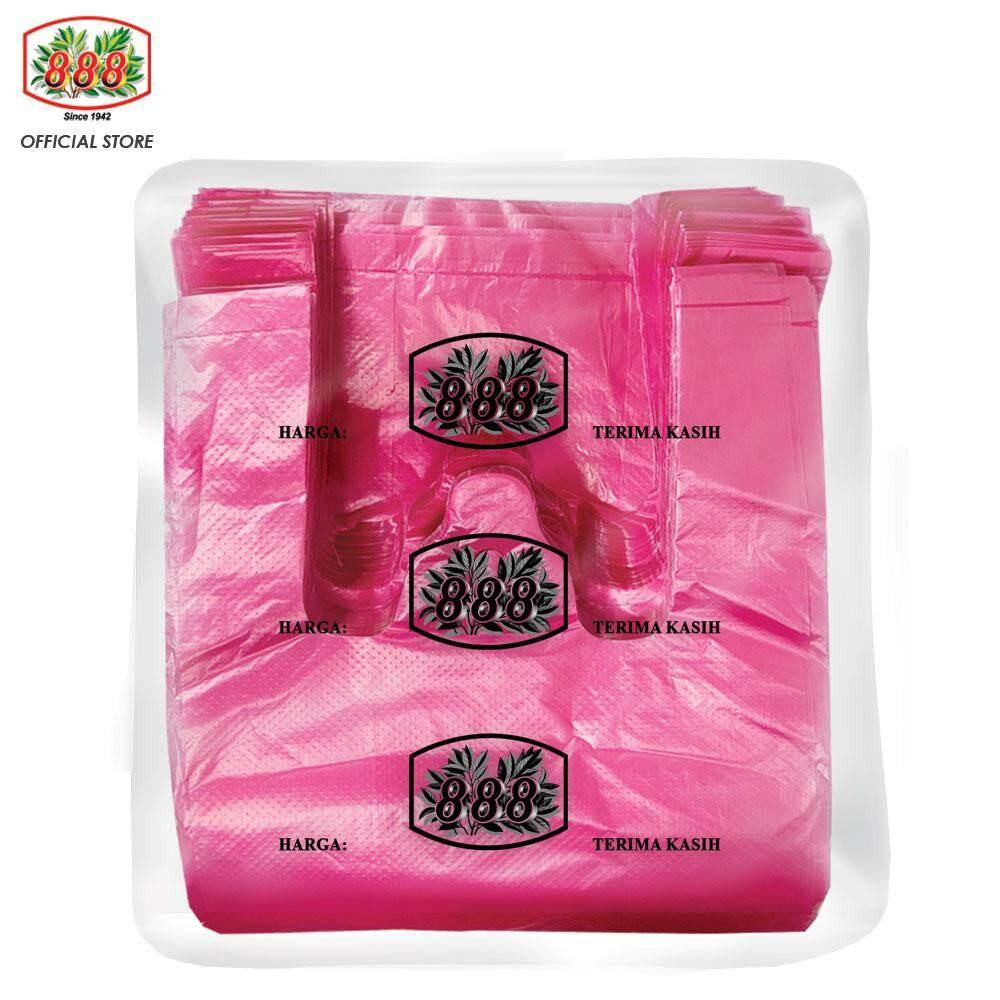 888 Singlet Plastic Bag T-Shirt Bag - Red (500g/ 180pcs+-)