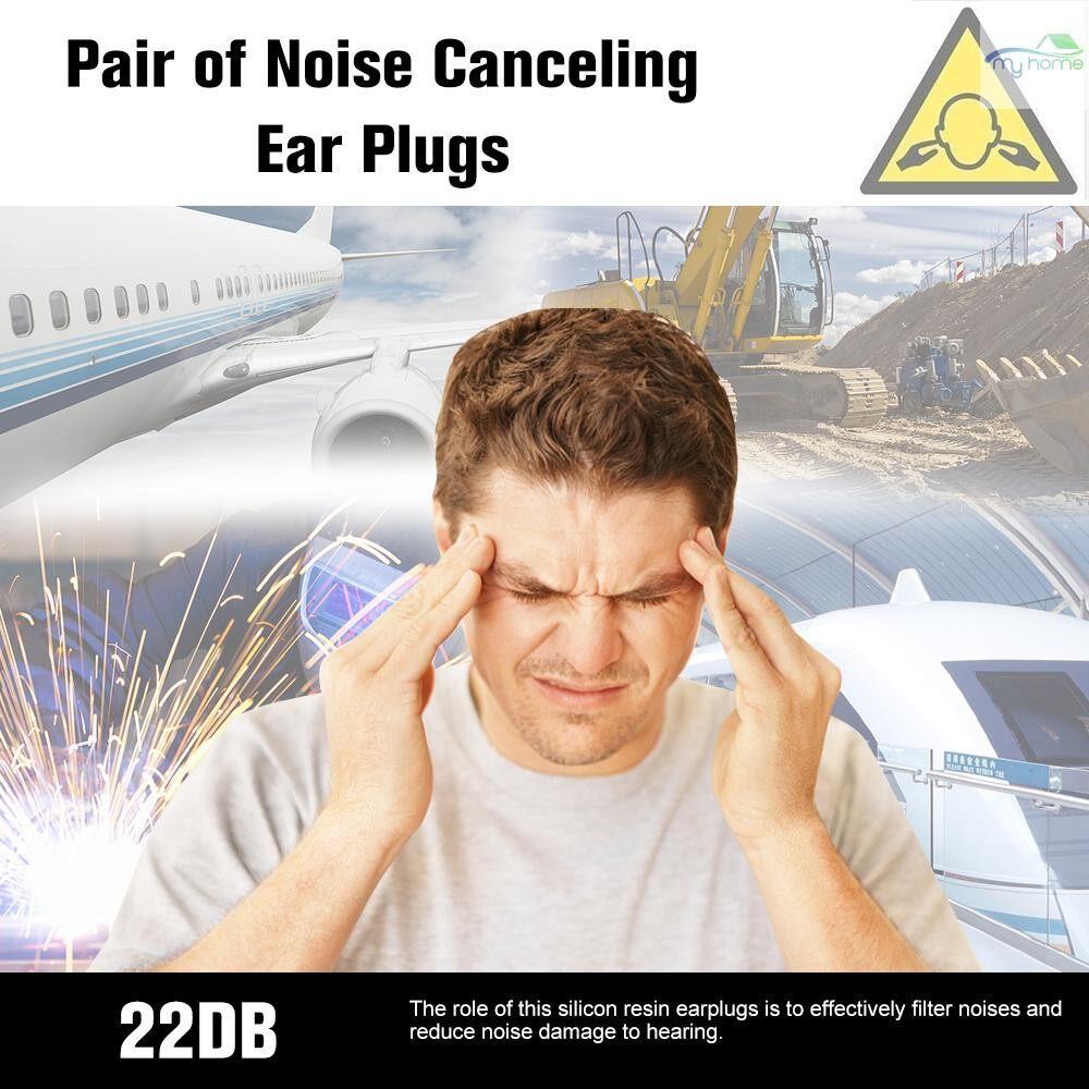Ear Care - MACK'S 1 Pairs Anti-noise Silicone Earplugs Professional Waterproof Swimming Earplugs Hearing - PURPLE / WHITE