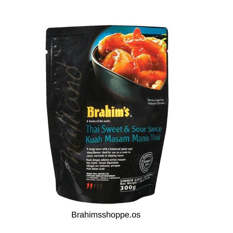 Brahim's Thai Sweet Sour Cooking Sauces (Masam Manis) Black Pouches