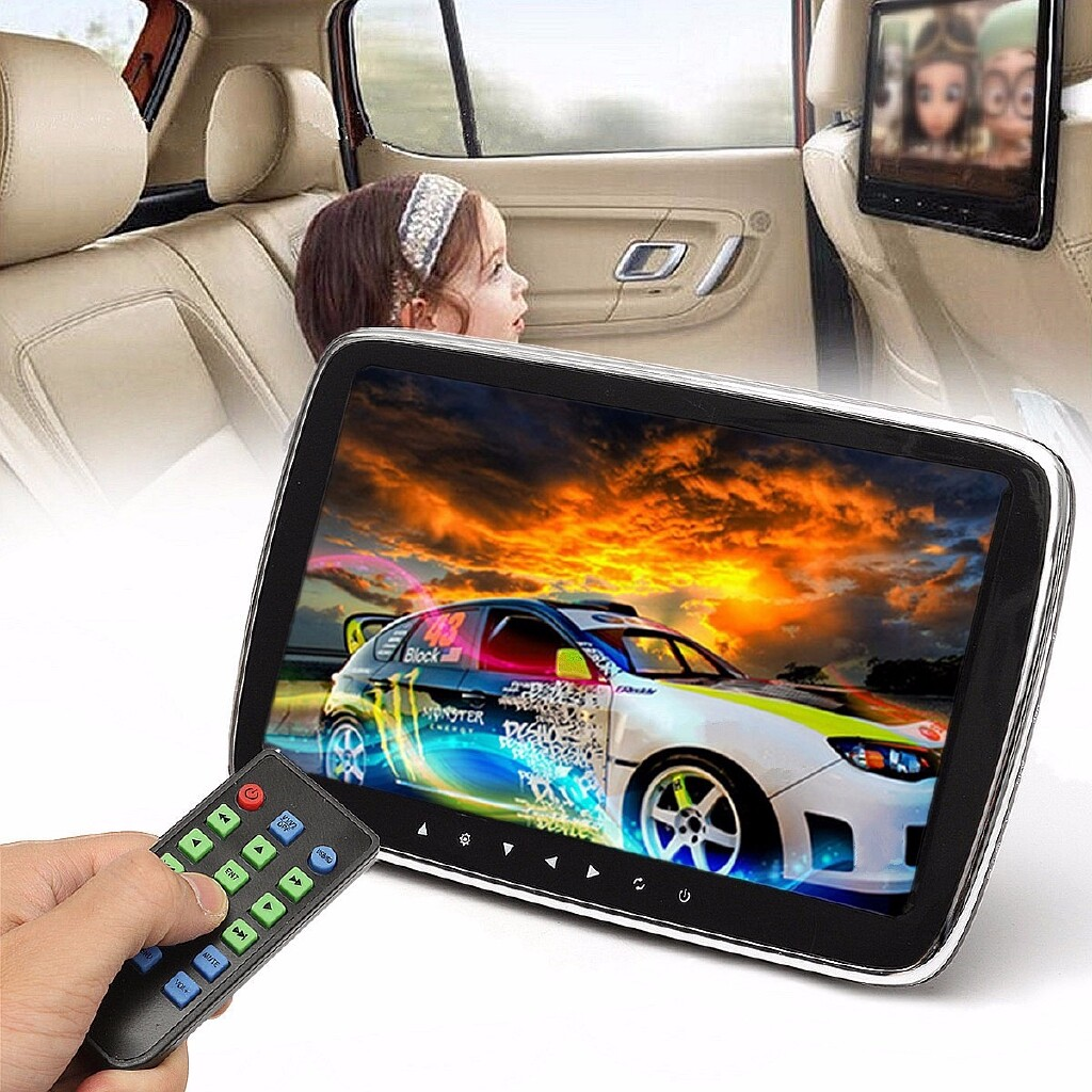 Car Multimedia Players - 9 HD Digital LCD Screen Car Headrest Monitor Remote Control Touch Screen Display Monitor - Electronics