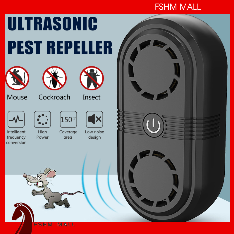 Electronic ultrasonic insect repellent control mouse killer tool Electric insect killer mosquito pest control cockroach rodent killer household indoor pest control and removal device