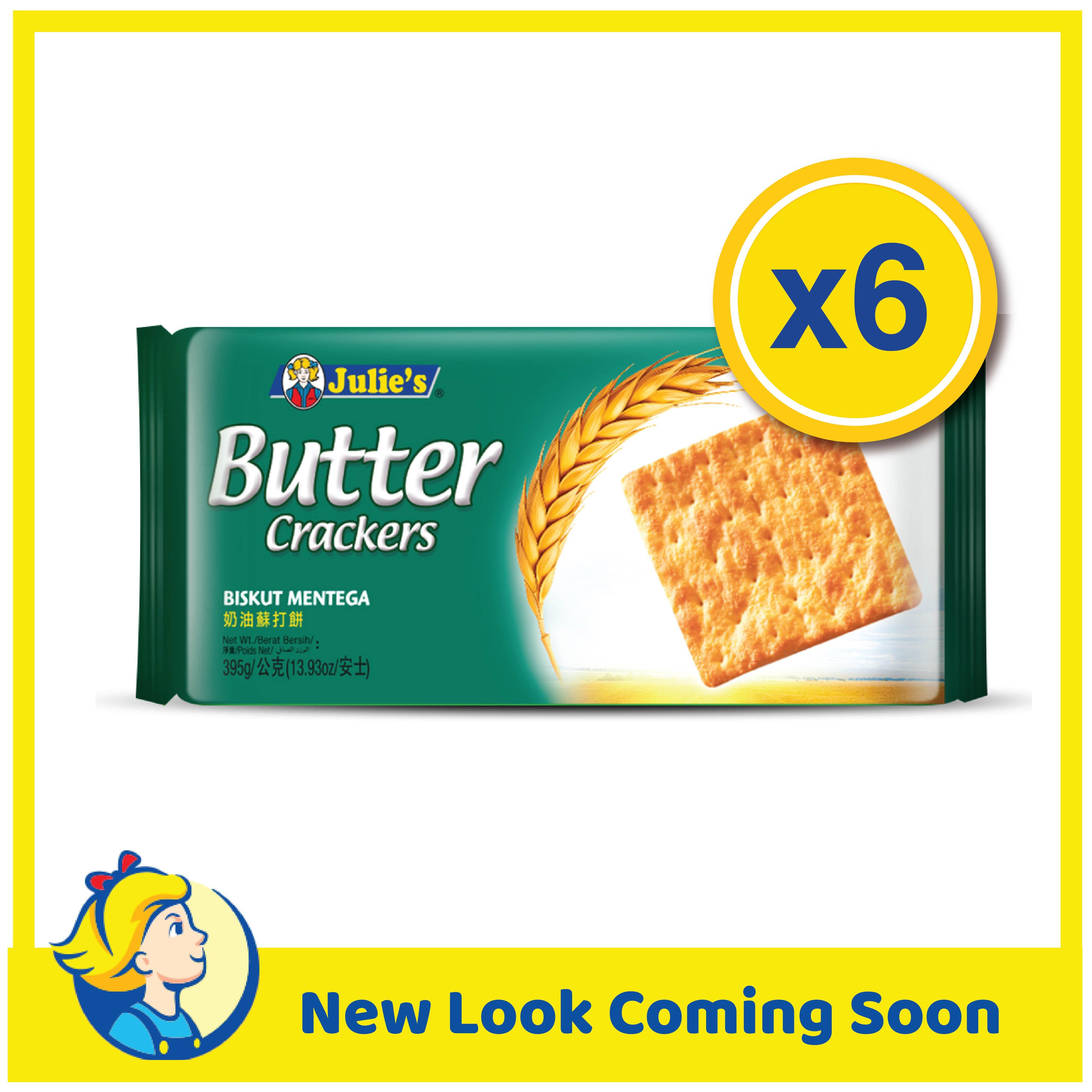 Julies Butter Crackers 395g x 6 Packs