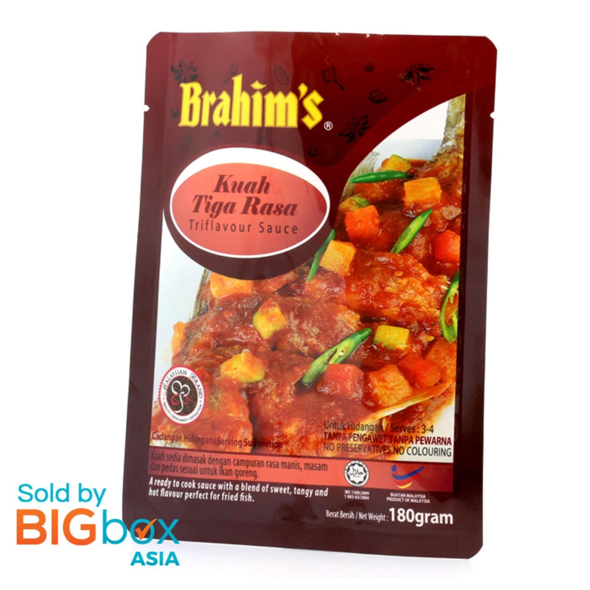 [BIGBox Asia] Brahims Ready To Use Triflavour Sauce 180g - Malaysia