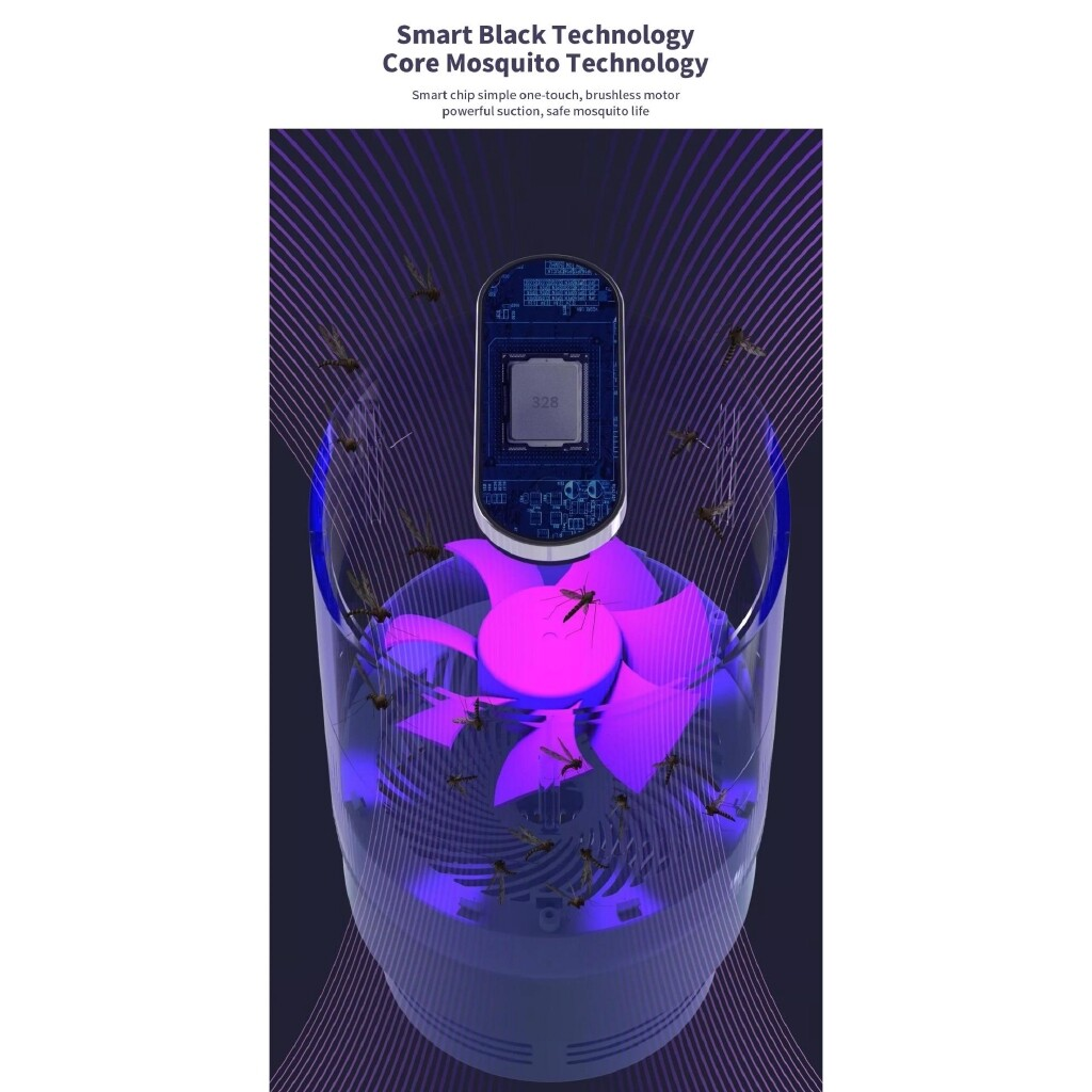 USB Electronics Mosquito Killer Lamp Pest LED Light Bug Insect Repeller Zapper - WHITE / PURPLE