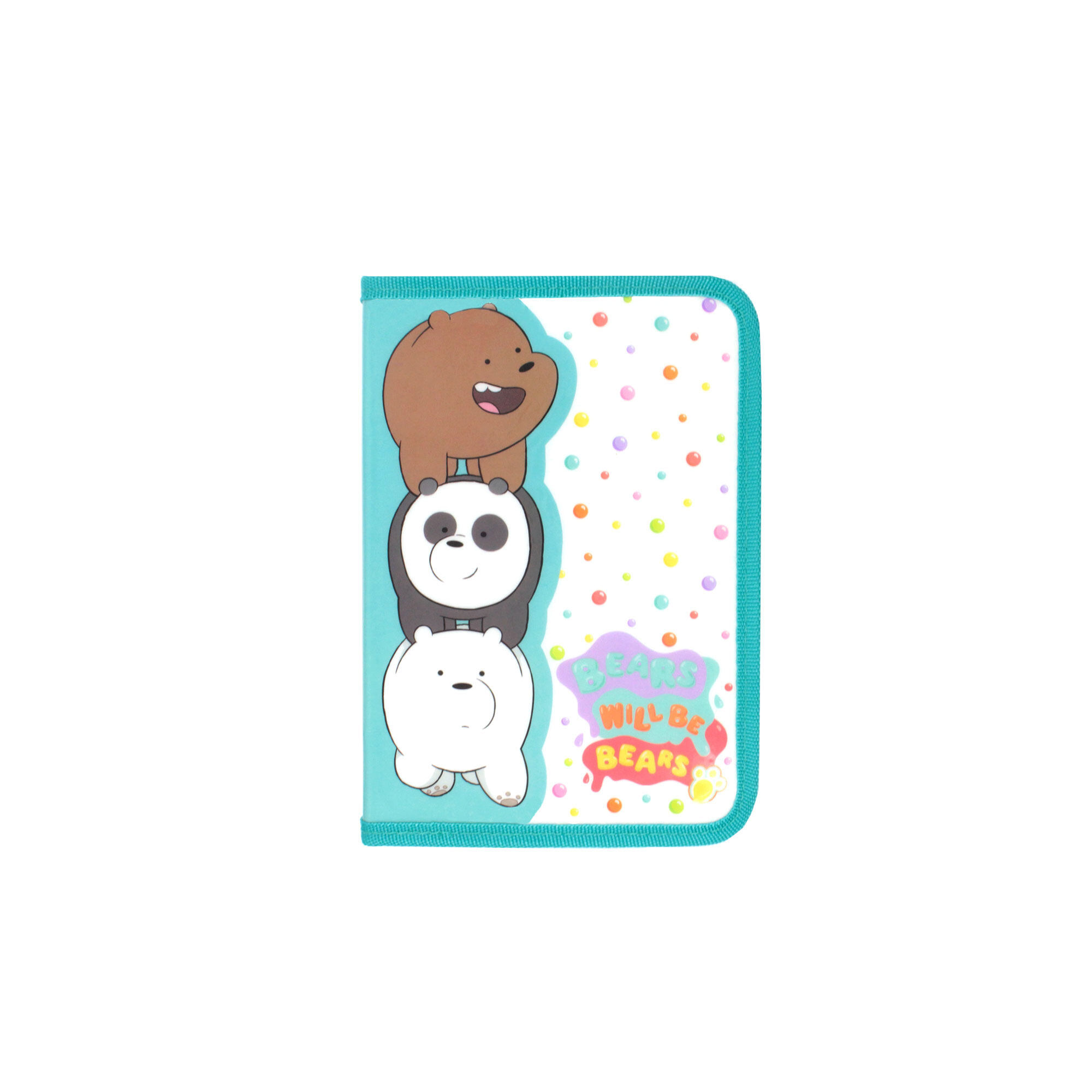 We Bare Bears 2 Folded Organizer Set  -Turquoise & White Colour