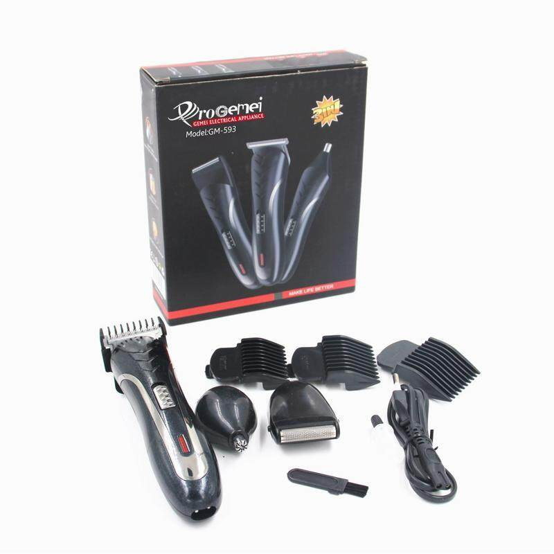 Pro Gemei Professional Hair & Beard Trimmer/ Gunting Rambut (GM-593) With Multiple Functions & Enhanced Features