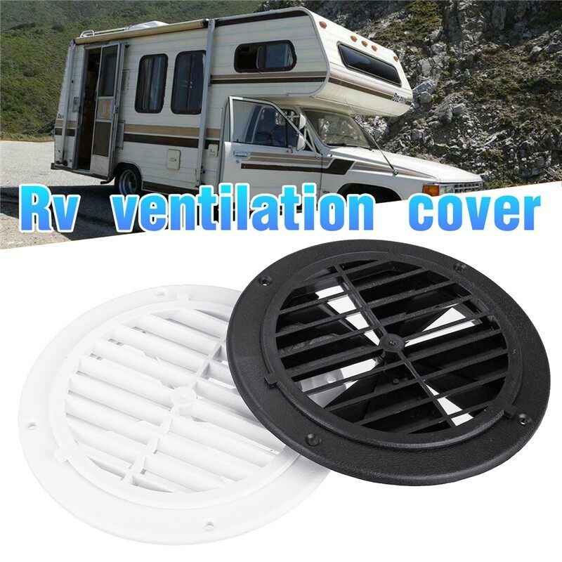 Car Lights - 164x18mm Air Vent Outlet Ventilation Cover for Yacht RV Motorhome White/Black - Replacement Parts