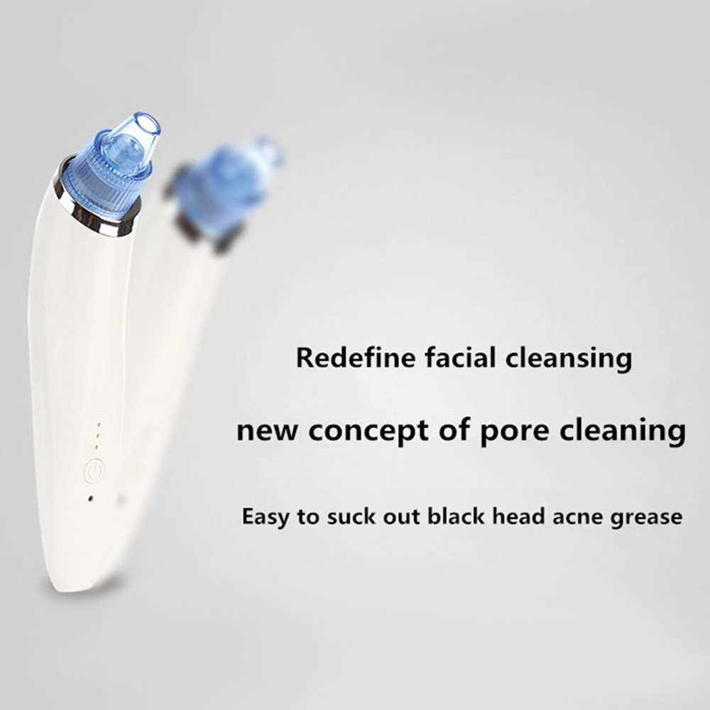 Best Selling Electric Blackhead Remover Facial Pore Cleanser USB Rechargeable Vacuum Blackhead Acne Removal Suction Tool with 3 Modes & 4 Replacement Heads for Facial Skin Care (Blue)