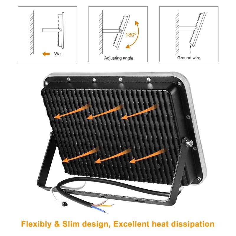 Outdoor Lighting - 35W 75W 150W RGB LED Flood Light Outdoor Security Floodlight Waterproof Lamp - 117LED / 36LED / 72LED