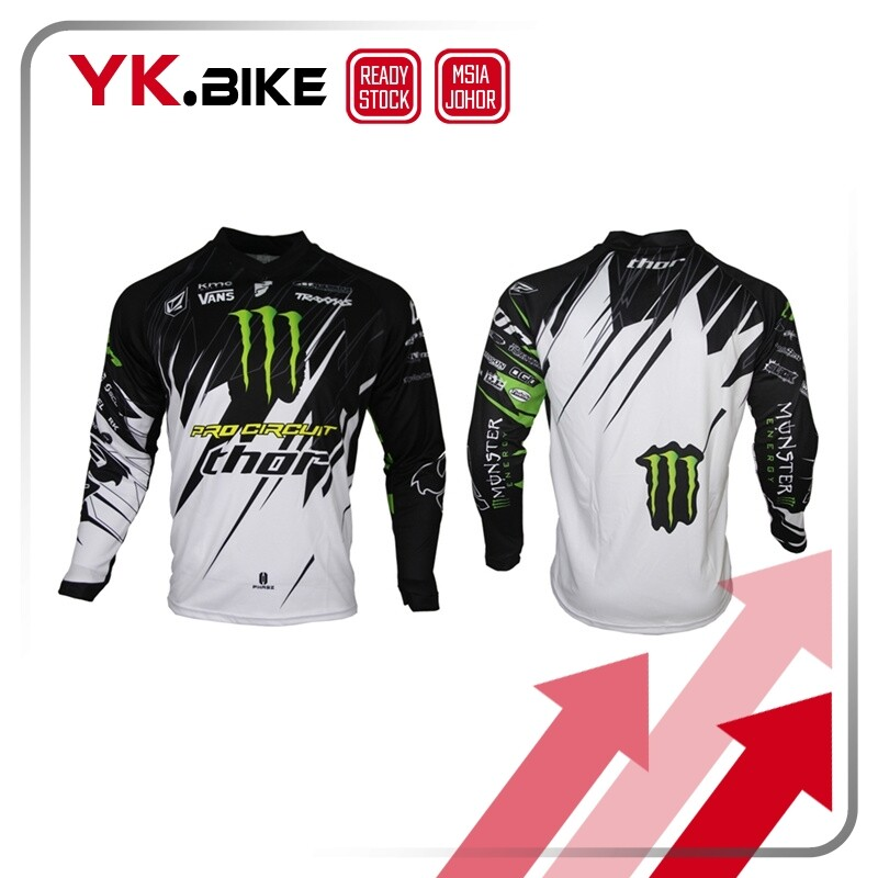 YKBIKE [LOCAL READY STOCK] Long Sleeve Jersey Downhill MTB Bike Bicycle Clothing Motocross Jersey Moto T-shirt Quickdry APL44