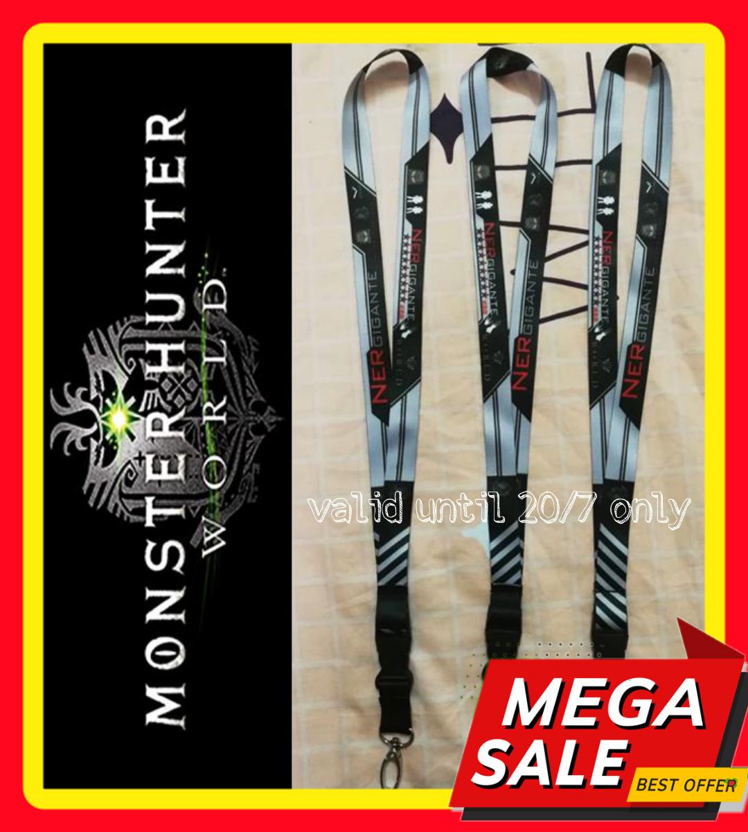 Ready Stock : Monster Hunter Series - NERGIGANTE Lanyard (defective: logo slightly blur)