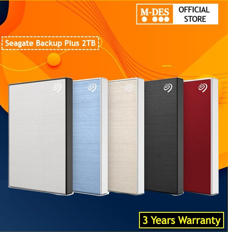 "[3Years Warranty] Seagate 2TB Backup Plus Slim Portable Hard Drives (2.5"") 2 TB HDD External Harddisk Hard disks Storage"