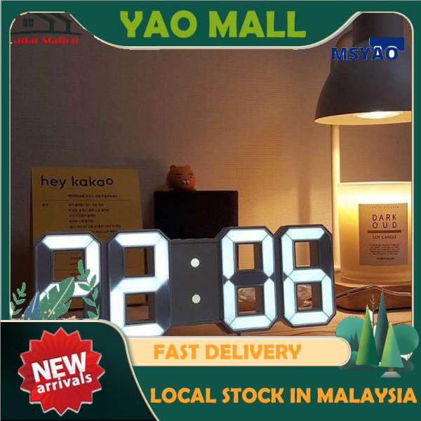 【Ready Stock in Malaysia] Table Clock for living room Wall Clock Modern Digital Table Desktop Alarm Clock Nightlight Jam Dinding Hiasan Ruang Tamu Alarm Clock 时钟 闹钟