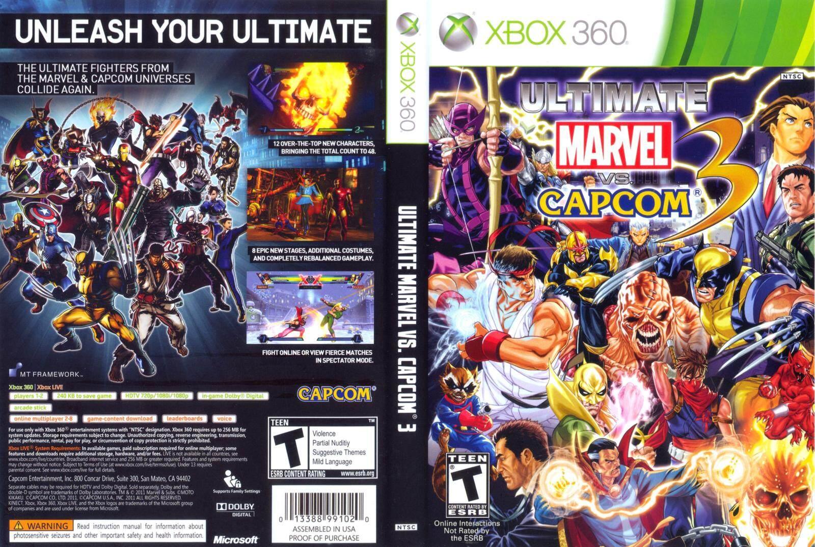 XBOX 360 Ultimate Marvel vs Capcom 3