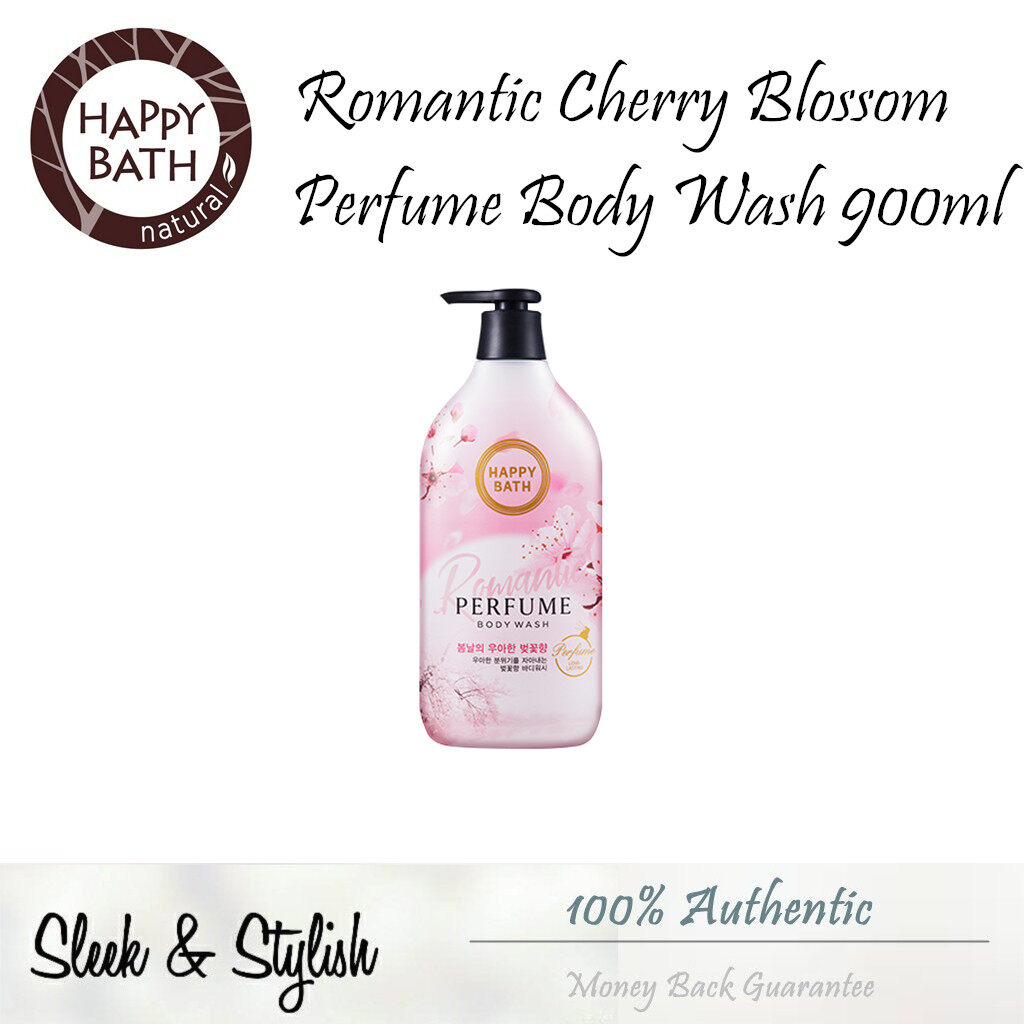 Happy BathPerfume Body Wash 900ml 4 Types