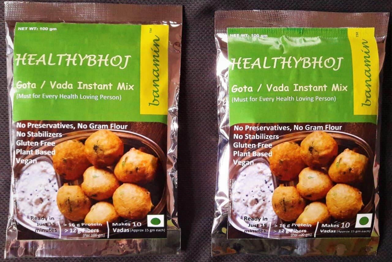 Healthy VEGAN GLUTEN FREE Gota / Vada / Vadai / Fritters Instant Mix (2 x 100gm) (HALAL CERTIFIED)