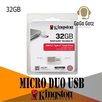 Kingston Micro Duo 3C USB 3.1 Pen Drive USB Type-C and Type-A - 32GB